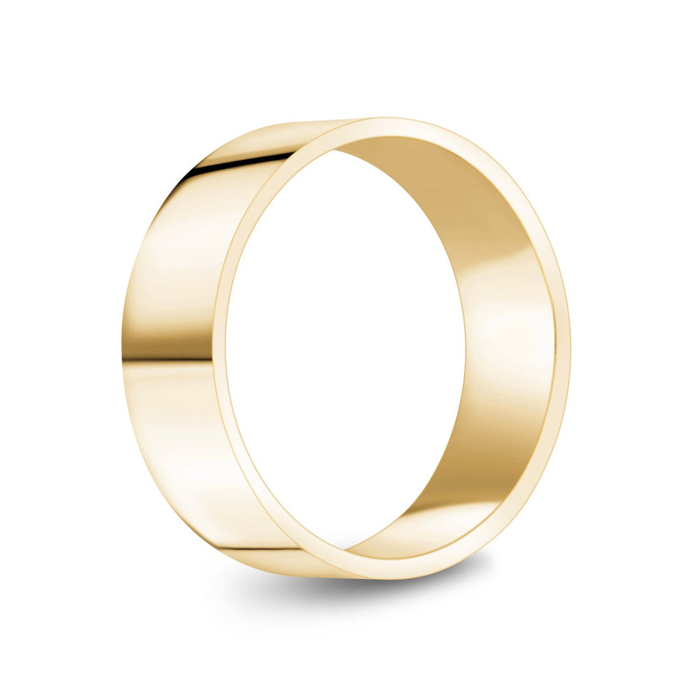 7mm 18K Gold High Polished Flat Wedding Band