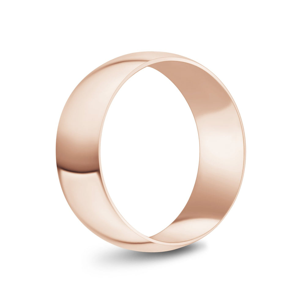8mm 10K Gold High Polished Dome Wedding Band