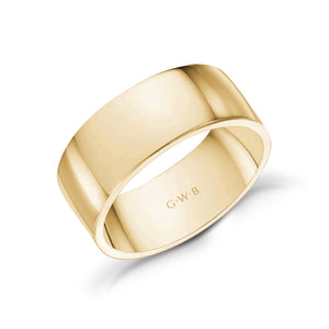 Load image into Gallery viewer, 8mm 18K Gold High Polished Flat Wedding Band