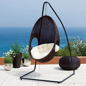 Outdoor Wicker Swing & Rockers