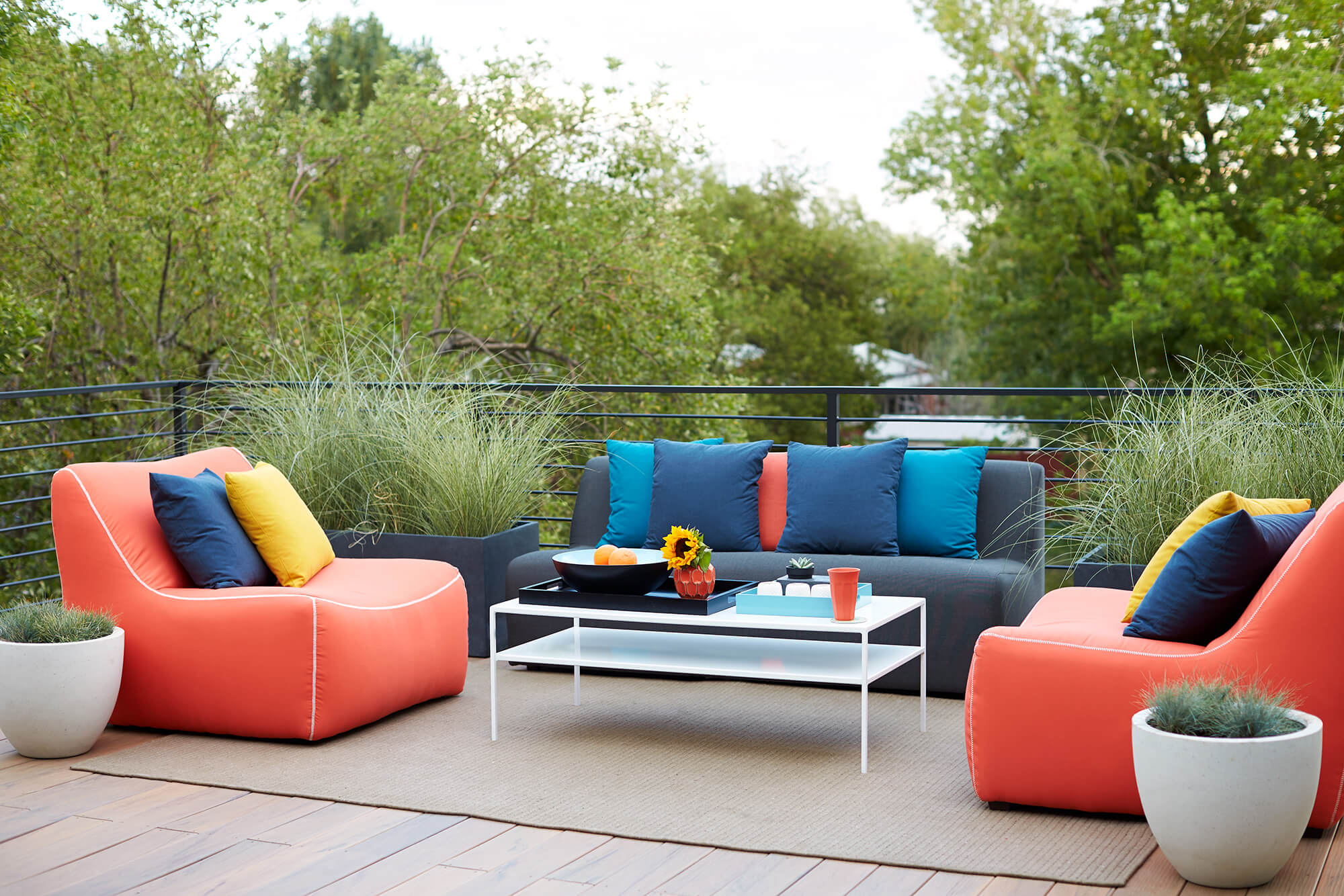 Fully Upholstered Outdoor Sofa Set, Lounge Sitting for Garden, Terrace & patio