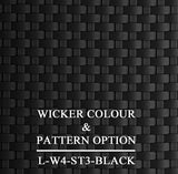 Luxox Black Wicker Pattern & Shade