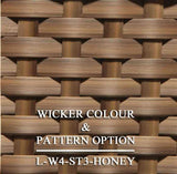 Luxox Honey Wicker Pattern & Shade