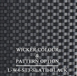 Luxox Slate Wicker Pattern & Shade