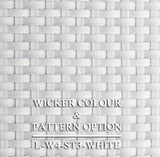 Luxox Vanilla White Wicker Pattern & Shade