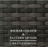 Luxox Charcoal Wicker Pattern & Shade