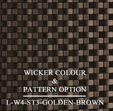Luxox Golden Brown Bronze Wicker Pattern & Shade
