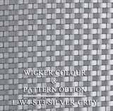 Luxox Silver Wicker Pattern & Shade