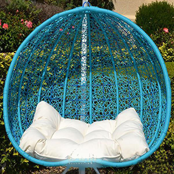 Outdoor Wicker - Swing Without Stand - Pomegranate