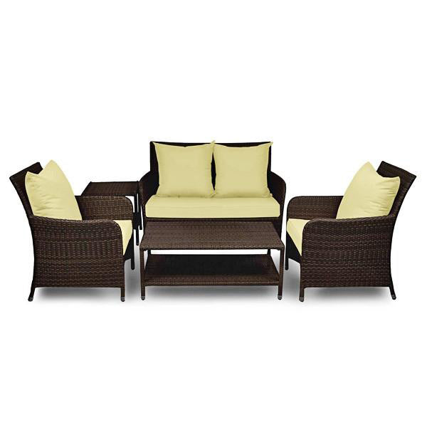 Outdoor Wicker Sofa - Cognac