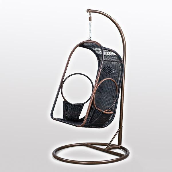 Outdoor Wicker Swing - Circle