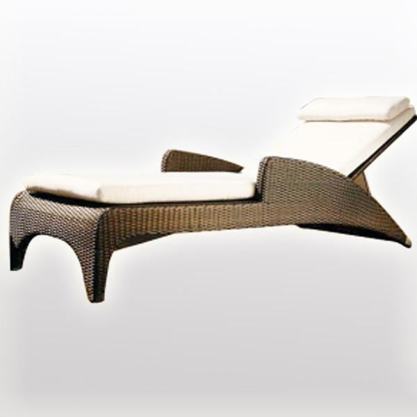 Outdoor Wicker Sun Lounger - Elevate