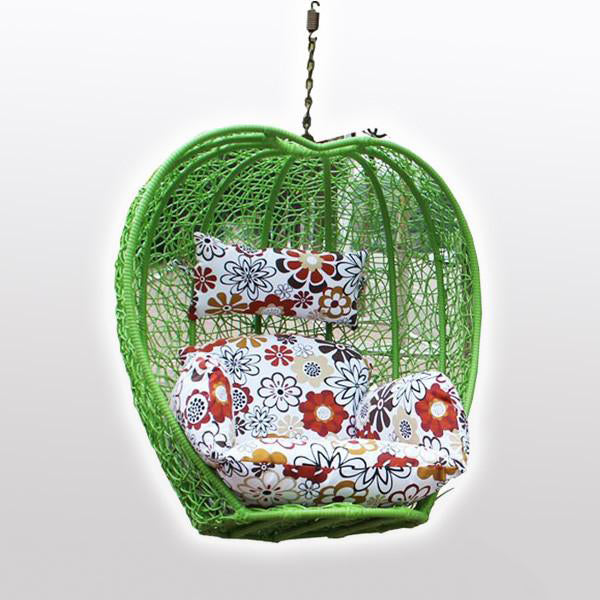 Outdoor Wicker - Swing Without Stand - Green Apple