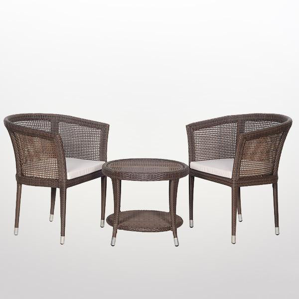 Outdoor Wicker - Stackable Set - Brown