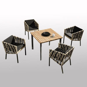 Outdoor Braided & Rope Coffee Set - Cesca