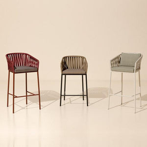 Outdoor Braided & Rope Bar Chair - Aniriksn