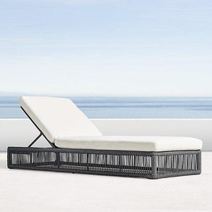 Outdoor Braided & Rope Sunlounger - Pristine