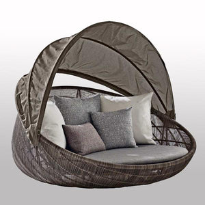 Outdoor Braided & Rope Canopy Daybed - Pristine