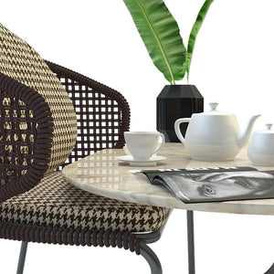 Outdoor Braided & Rope Coffee Set - Baroque