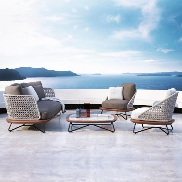 Outdoor Braided & Rope Sofa - Flamenco