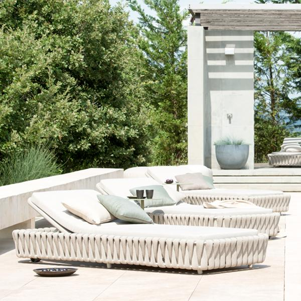 Outdoor Braided & Rope Sunlounger - Birilyant