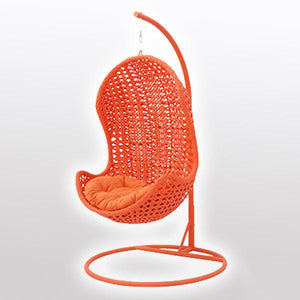Outdoor Wicker - Swing With Stand - Citrus