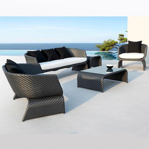 Outdoor Furniture - Wicker Sofa - Mediterranean