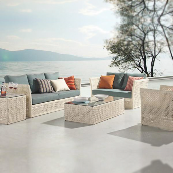 Outdoor Furniture - Wicker Sofa - Caribbean