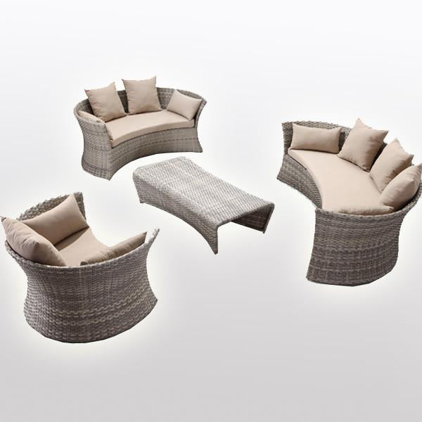 Outdoor Furniture - Wicker Sofa - Columbia