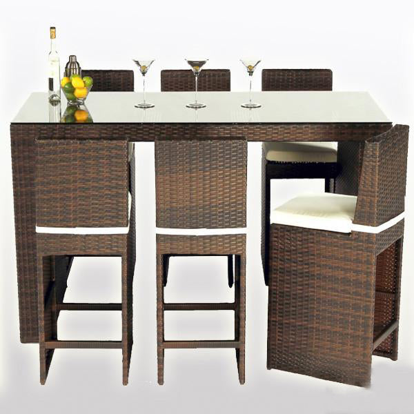 Outdoor Wicker Bar Set - Mermaid
