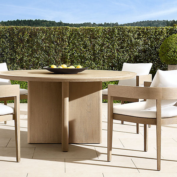 Outdoor Wood - Dining Set - Oak