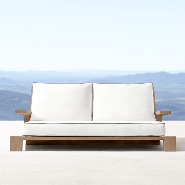 Outdoor Wood - Sofa Set - Mahogany