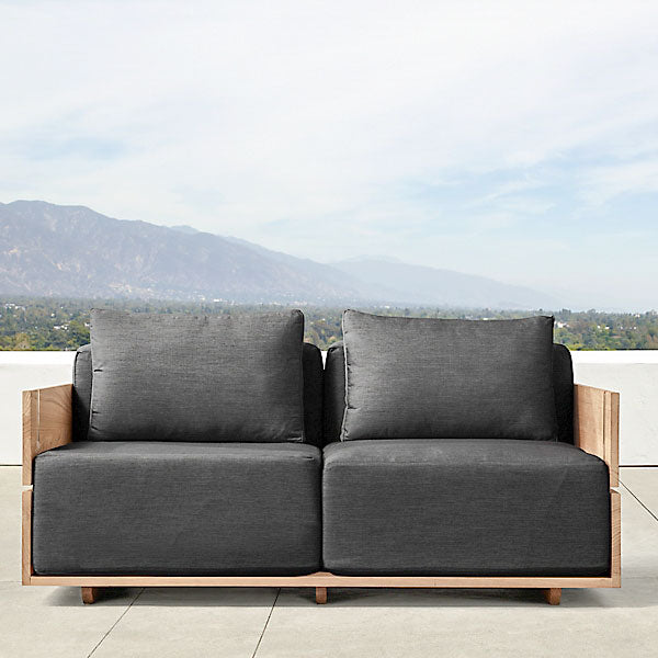 Outdoor Wood - Sofa Set - Anigre for Patio, Garden & Terrace