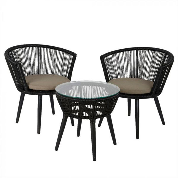 Outdoor Braided & Rope Coffee Set - Outlook