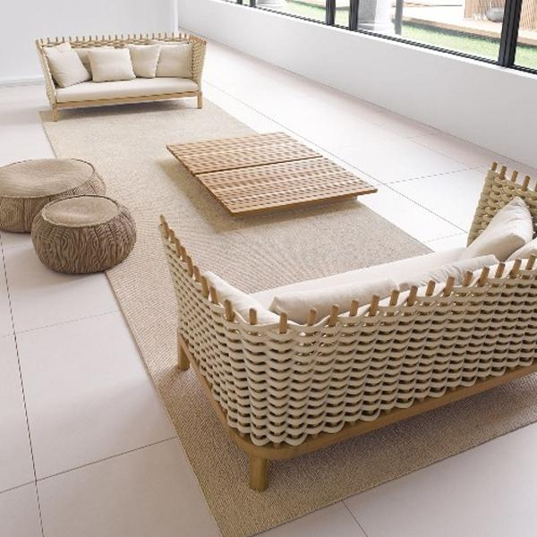 Outdoor Braided & Rope Couch - Acro