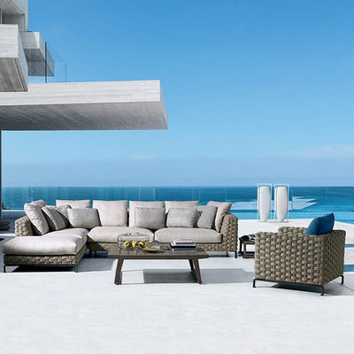 Outdoor Braided & Rope Sofa - Maral