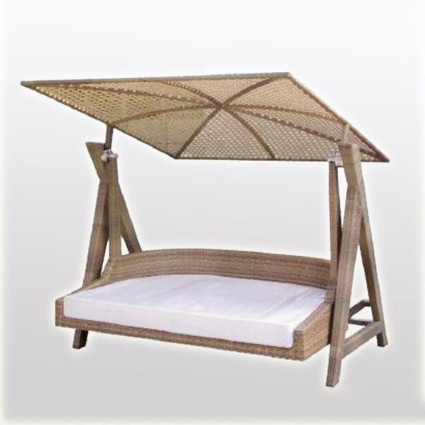 Outdoor Wicker Two Seater Swing - Club