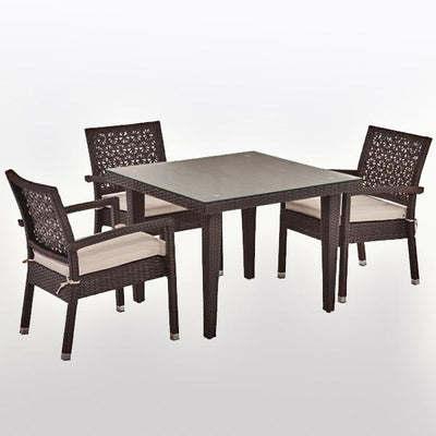 Outdoor Wicker Garden Set - Dine