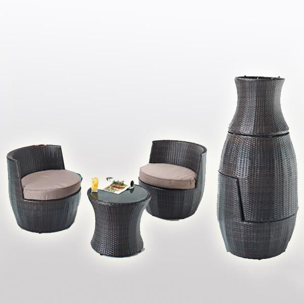 Outdoor Wicker - Stackable Set - Party