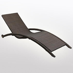 Outdoor Wicker Sun Lounger - Curve