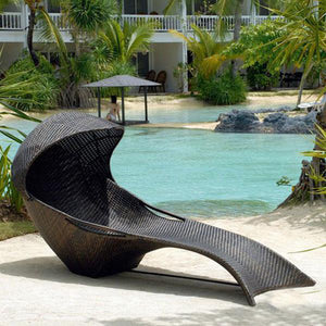 Outdoor Wicker Sun Lounger - Mermaid