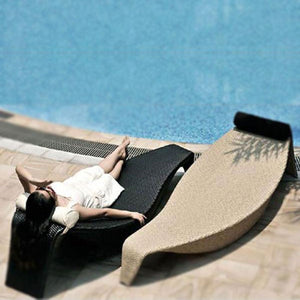 Outdoor Wicker Sun Lounger - Chiller Wide