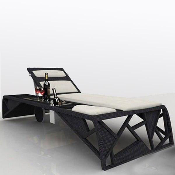 Outdoor Wicker Sun Lounger - Urban