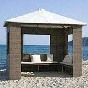 Outdoor Wicker Cabana & Gazebo - Atlantic