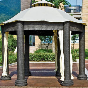 Outdoor Wicker Cabana & Gazebo - Magnolia