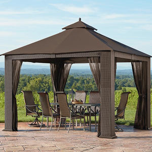 Outdoor Wicker Cabana & Gazebo - Pebble-Bay