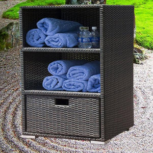 Outdoor Wicker Rack - Tower