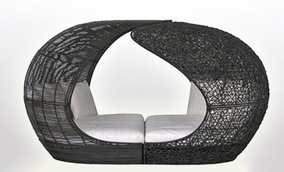 Outdoor Wicker Canopy Bed - Auckland