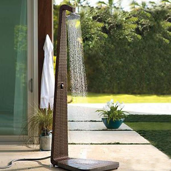 Outdoor Wicker Jacuzzi Shower Panel - Fluid