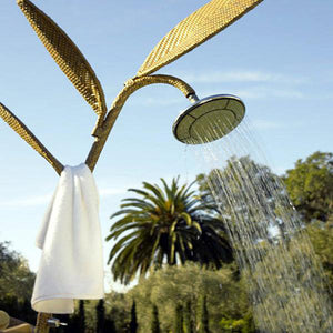 Outdoor Wicker Jacuzzi Shower Panel - Shoots & Petals